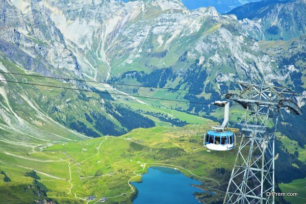 Big cable car in the Alps