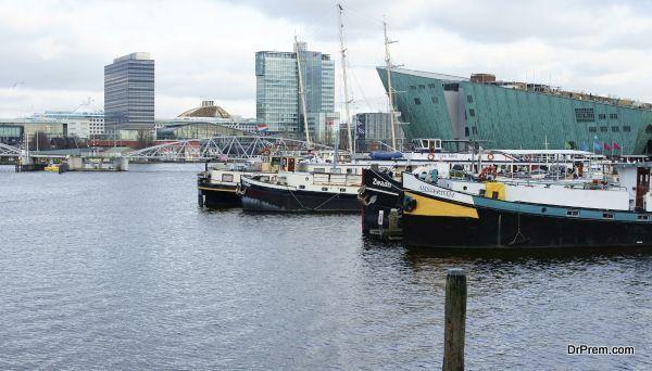 Open waterfront Amsterdam