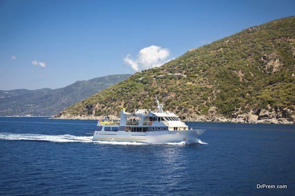 Touristic boat at Halkidiki, Greece.