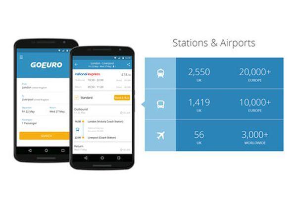 GoEuro travel app