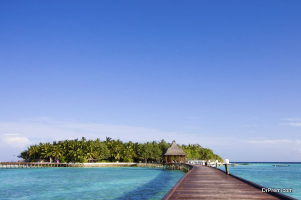 Pier on the tropical island