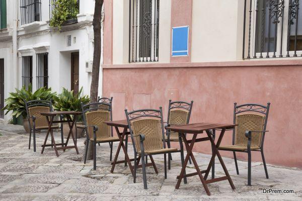 Cafe Tables and Chairs; Santa Cruz Neighbourhood; Seville