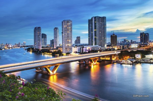 Bangkok is the capital city of Thailand, The Chao Phraya is a major river in Thailand.